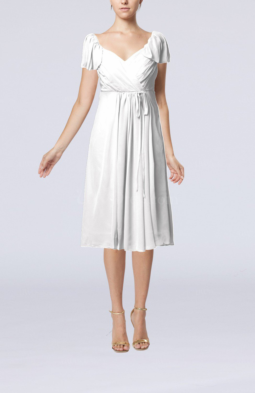 Empire Dress with Sleeves