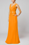 Elegant Sleeveless Zip up Floor Length Ribbon Wedding Guest Dresses