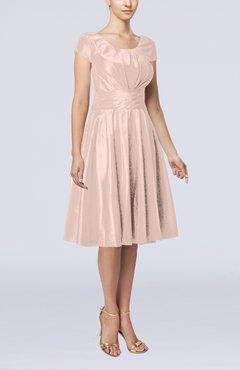Plus Size Bridesmaid Dresses Coral Pink color - UWDress.com