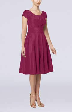 Raspberry Mother of the Bride Dresses Empire Waist
