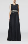 Mature Sheath Jewel Sleeveless Floor Length Wedding Guest Dresses