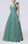 Fairytale One Shoulder Sleeveless Floor Length Ruching Prom Dresses