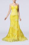 Elegant Trumpet Sweetheart Court Train Beaded Prom Dresses