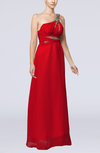 Elegant Empire Sleeveless Floor Length Ruching Evening Dresses