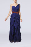 Romantic Column Sleeveless Chiffon Floor Length Evening Dresses