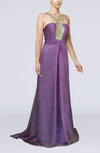 Elegant A-line Sleeveless Zipper Chiffon Court Train Wedding Guest Dresses