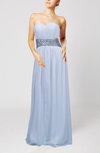 Simple Sheath Sleeveless Floor Length Sash Bridesmaid Dresses