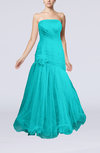 Romantic A-line Sleeveless Floor Length Ruching Evening Dresses