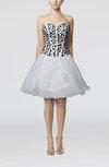 Cute Baby Doll Sleeveless Organza Beaded Prom Dresses