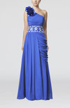Fairytale Column One Shoulder Sleeveless Zip up Prom Dresses