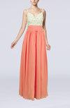 Elegant Sleeveless Zip up Chiffon Floor Length Evening Dresses