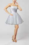 Cute Baby Doll Strapless Sleeveless Backless Organza Homecoming Dresses