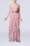 Romantic One Shoulder Sleeveless Floor Length Ruching Wedding Guest Dresses