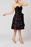 Mature A-line Sweetheart Backless Knee Length Little Black Dresses