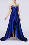 Modern A-line Sweetheart Sleeveless Elastic Woven Satin Chapel Train Evening Dresses