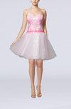 Cute Baby Doll Sweetheart Zipper Short Homecoming Dresses