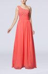 Romantic Column Sleeveless Chiffon Floor Length Sash Homecoming Dresses