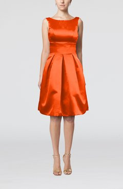 bcaba410546c Persimmon Plain A-line Sleeveless Knee Length Sash Bridesmaid Dresses
