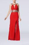 Sexy Column Sleeveless Backless Floor Length Split-Front Prom Dresses