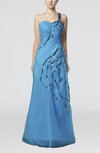 Gorgeous Sheath Sleeveless Zipper Organza Evening Dresses