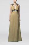 Sexy Sheath V-neck Sleeveless Chiffon Floor Length Evening Dresses