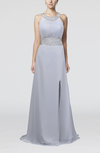 Elegant Church A-line Backless Chiffon Split-Front Bridal Gowns