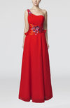 Elegant A-line Chiffon Floor Length Appliques Wedding Guest Dresses
