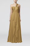 Romantic One Shoulder Sleeveless Chiffon Floor Length Ruching Wedding Guest Dresses