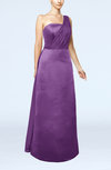 Simple Sheath Sleeveless Satin Floor Length Wedding Guest Dresses