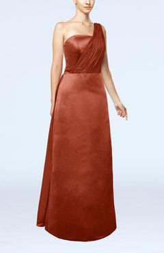 e1cfd73dd5c Rust Simple Sheath Sleeveless Satin Floor Length Wedding Guest Dresses