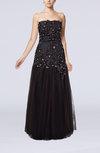 Romantic A-line Scalloped Edge Zip up Paillette Party Dresses