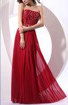 Modern Column Sleeveless Zip up Chiffon Floor Length Party Dresses