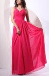 Classic Sheath V-neck Zipper Floor Length Beaded Bridesmaid Dresses
