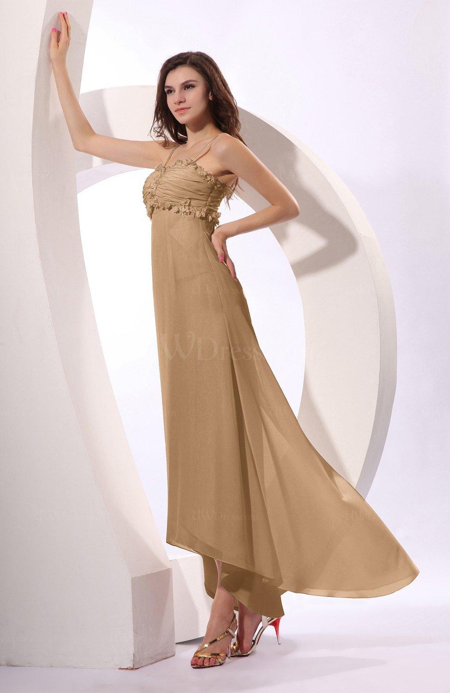 8100c09629 Indian Tan Sexy Spaghetti Sleeveless Zip up Ruching Evening Dresses (Style  D71398)