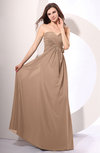 Simple Sheath Sweetheart Sleeveless Chiffon Floor Length Party Dresses