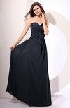 Simple Sheath Sweetheart Sleeveless Chiffon Floor Length Party Dresses