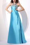 Gorgeous A-line Zip up Elastic Woven Satin Sequin Homecoming Dresses