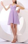 Plain V-neck Sleeveless Zipper Chiffon Bridesmaid Dresses