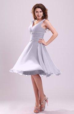 29318cb4037 Light Purple Cute A-line Sleeveless Chiffon Knee Length Ruching Bridesmaid  Dresses
