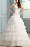 Romantic Church A-line Sweetheart Backless Court Train Bridal Gowns
