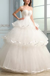 Cute Garden Princess Sleeveless Floor Length Sequin Bridal Gowns