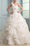 Fairytale Garden A-line One Shoulder Organza Ruching Bridal Gowns