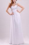Simple Beach Column Sweetheart Sleeveless Floor Length Pleated Bridal Gowns