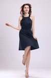Simple A-line Square Zipper Knee Length Ribbon Graduation Dresses