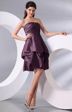 Mauve Color Party Dresses Bow Uwdresscom