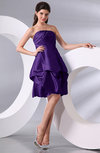 Simple A-line Sleeveless Zip up Knee Length Bow Bridesmaid Dresses