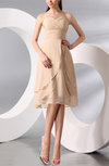 Simple A-line Sweetheart Chiffon Knee Length Bridesmaid Dresses