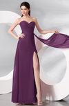 Plain Sleeveless Zip up Chiffon Floor Length Prom Dresses