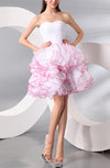 Plain Baby Doll Organza Short Ruching Party Dresses
