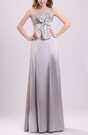 Modern Sheath Strapless Sleeveless Elastic Woven Satin Prom Dresses
